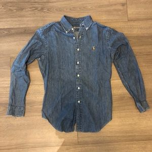 Polo Ralph Lauren Denim Oxford Shirt size Small
